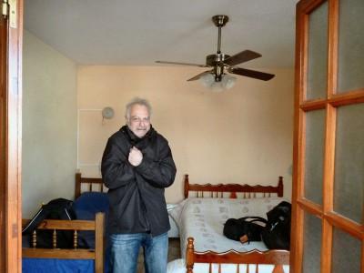Une chambre au ventilateur des Indes (n'est'ce pas les M&M) mais dans l'hiver austral !