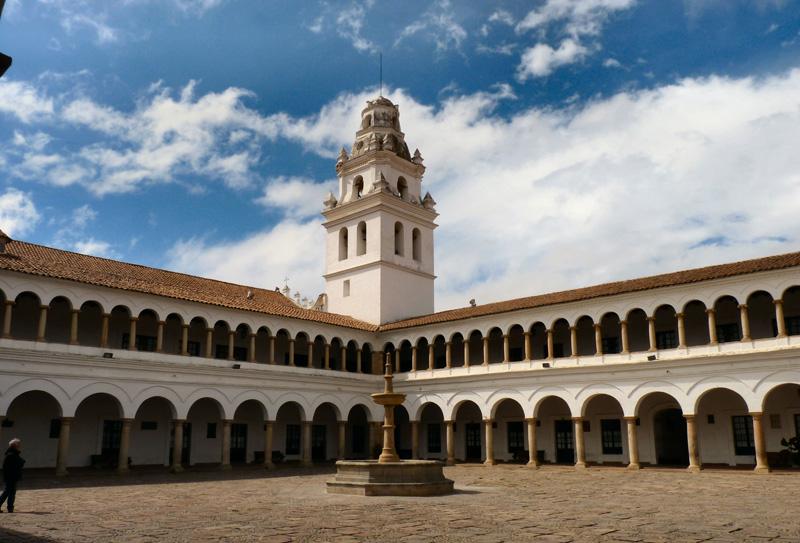 La cour intérieure de la Faculté de droit